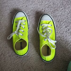 Neon Yellow Converse